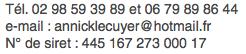 Annick Lécuyer Coordonnée mail et téléphonique